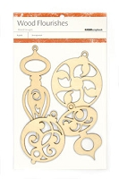 Kaiser wood flourish - Christmas Ornaments