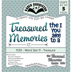 Karen Burniston - Cutting Die - Word Set 11 - Treasure