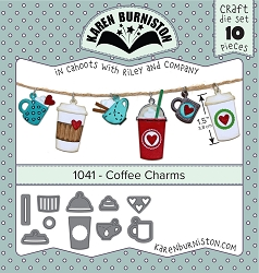 Karen Burniston - Cutting Die - Coffee Charms Die Set