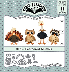 Karen Burniston - Cutting Die - Feathered Animals Die Set