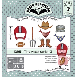 Karen Burniston - Cutting Die - Tiny Accessories 3 Die Set