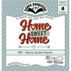 Karen Burniston - Cutting Die - Home Sweet Home Die Set
