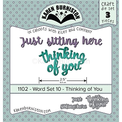 Karen Burniston - Cutting Die - Word Set 10 - Thinking Of You Die Set