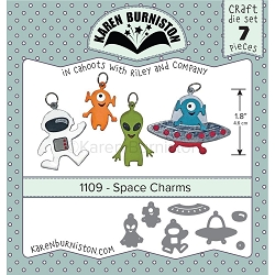 Karen Burniston - Cutting Die - Space Charms Die Set