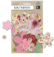 K&Company - Handmade Collection - Floral Fabric Art Embellishments