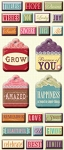 Studio 112 - Word Tags Pillow Stickers