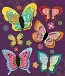 Studio 112 - Bright Butterfly Dim. Stickers