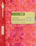 Studio 112 - Red Floral Notepad/Pen