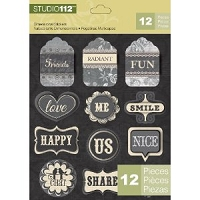 Studio 112 - Dimensional Stickers, Words