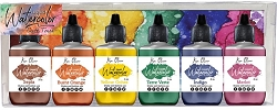 Ken Oliver Crafts - Liquid Watercolor - Earth Tones (6 pk)