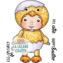 La-La Land Crafts - Rubber Cling Stamp - Little Chick Baby Luka