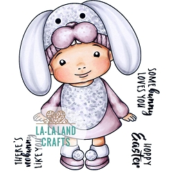 La-La Land Crafts - Rubber Cling Stamp - Some Bunny Baby Marci
