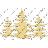La-La Land Crafts - Die - Three Christmas Trees