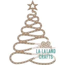 La-La Land Crafts - Die - Spiral Christmas Tree