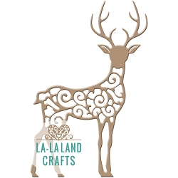 La-La Land Crafts - Die - Filigree Reindeer 1