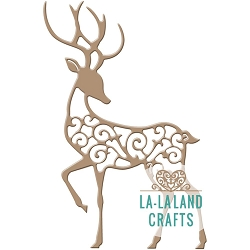 La-La Land Crafts - Die - Filigree Reindeer 2