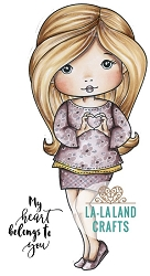 La-La Land Crafts - Rubber Cling Stamp - Heart Hands Molli
