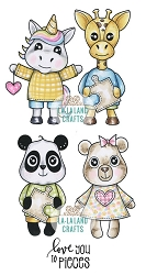 La-La Land Crafts - Rubber Cling Stamp - Love Critters