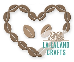 La-La Land Crafts - Die - Coffee Bean Heart