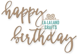 La-La Land Crafts - Die - Happy Birthday