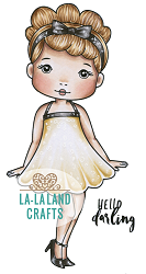 La-La Land Crafts - Rubber Cling Stamp - Darling Molli