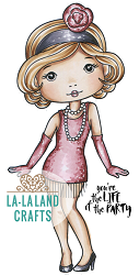 La-La Land Crafts - Rubber Cling Stamp - Flapper Molli