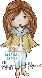 La-La Land Crafts - Rubber Cling Stamp - City Molli