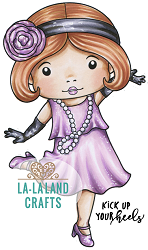 La-La Land Crafts - Rubber Cling Stamp - Flapper Marci