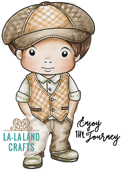 La-La Land Crafts - Rubber Cling Stamp - Jaunty Luka