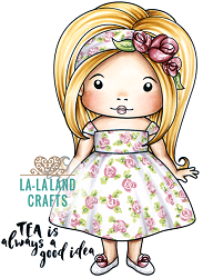 La-La Land Crafts - Rubber Cling Stamp - Afternoon Tea Marci