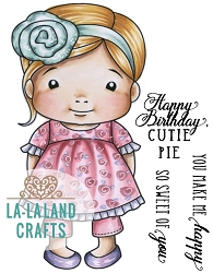 La-La Land Crafts - Rubber Cling Stamp - Cutie Pie Baby Marci