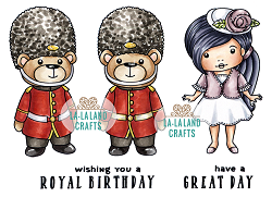 La-La Land Crafts - Rubber Cling Stamp - Royal Day