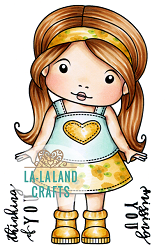 La-La Land Crafts - Rubber Cling Stamp - Thinking of You Marci