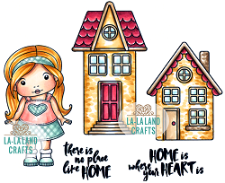 La-La Land Crafts - Rubber Cling Stamp - No Place Like Home