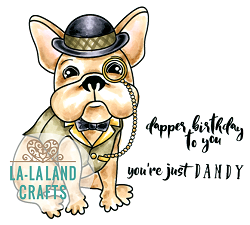 La-La Land Crafts - Rubber Cling Stamp - Dandy Frenchie