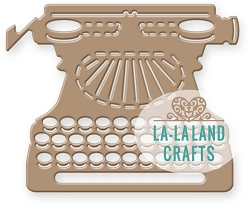 La-La Land Crafts - Die - Vintage Typewriter
