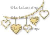 La-La Land Crafts - Die - Open Hearts Banner