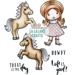La-La Land Crafts - Rubber Cling Stamp - Life Is Good