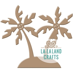 La-La Land Crafts - Die - Island with Palm Trees