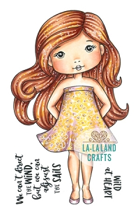 La-La Land Crafts - Rubber Cling Stamp - Summer Dress Molli