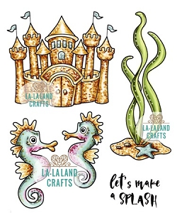 La-La Land Crafts - Rubber Cling Stamp - Make A Splash