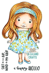 La-La Land Crafts - Rubber Cling Stamp - Summer Dress Marci