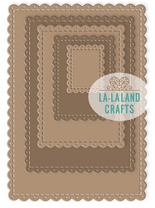 La-La Land Crafts - Die - Scalloped Rectangles