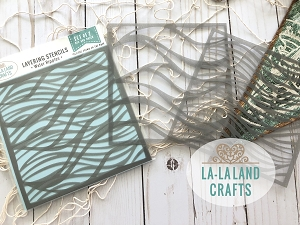 La-La Land Crafts - Layering Stencil Set - Water Ripples