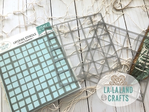 La-La Land Crafts - Layering Stencil Set - Funky Squares