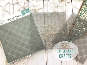 La-La Land Crafts - Layering Stencil Set - Pretty Diamond