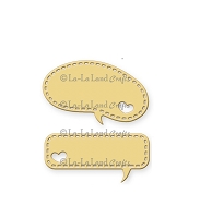 La-La Land Crafts - Die - Heart Speech Bubbles