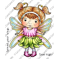 La-La Land Crafts - Rubber Cling Stamp - Butterfly Marci