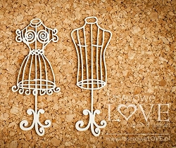 Laserowe Love Chipboard - Mannequins - Simple Wedding