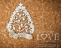 Laserowe Love Chipboard - Christmas Tree - Shabby Winter